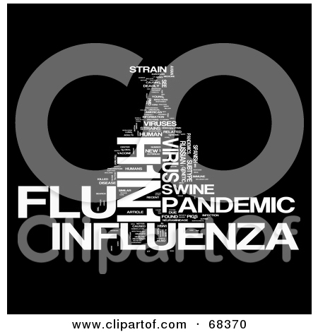 68370-H1N1-Influenza-Word-Collage-Version-1-Poster-Art-Print